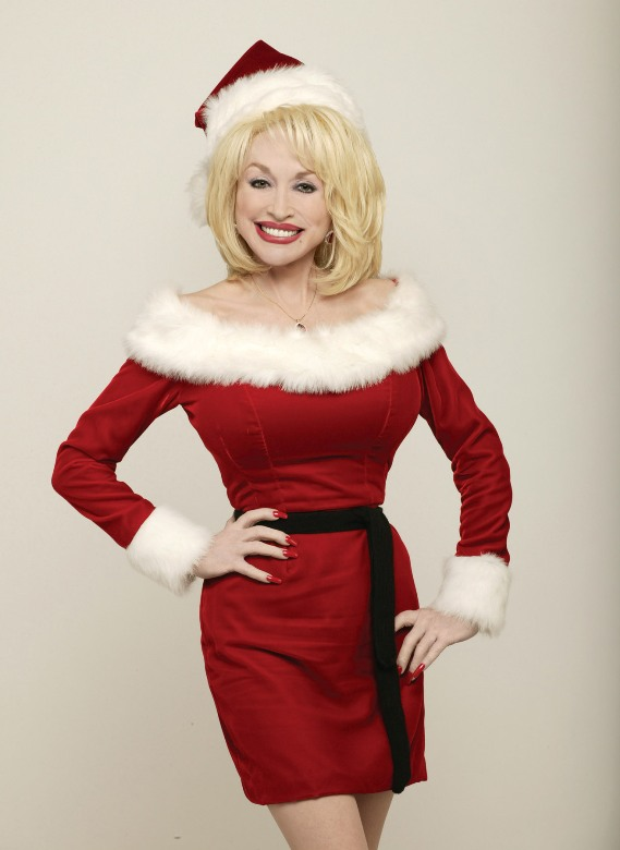 Singer/songwriter Dolly Parton celebrates the holidays at Dollywood, Pigeon Forge, Tenn.